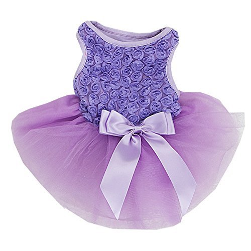 Lavendel Rosetten Pets Tutu Party Kleid -