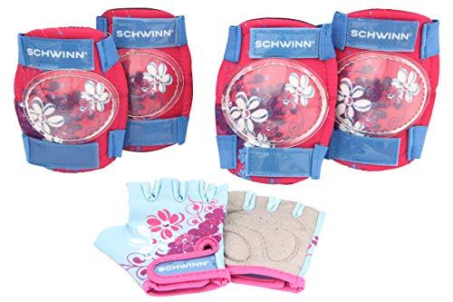 Schwinn Mädchen Multi-Sport Pad Set Handschuhe, Pink/Blau, Einheitsgröße