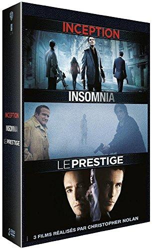 3 films réalisés par Christopher Nolan: Inception + Insomnia + Le Prestige [Blu-ray]