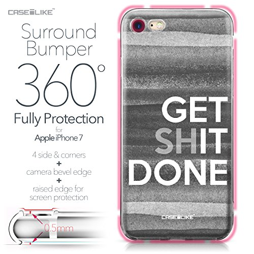 CASEiLIKE Coque iPhone 7 , Ultra Mince Crystal Case TPU Silicone Clair Transparente Exact Fit Soft Housse Etui Coque Pour iPhone 7 Citation 2429