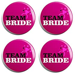 Team Bride Group Badge (Set of 4)