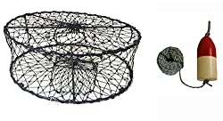 "Kufa Ct50+fql100 Sports Foldable Crab Trap With 11"" Redwhite Bullet Floats"