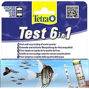[Gesponsert]Tetra Test 6in1 Wassertest, für das Aquarium, schnelle und einfache Überprüfung der Wasserqualität, 1 Dose (25 Stk.)