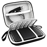 Lacdo (TM) Coque rigide anti-chocs imperméable en EVA Étui de transport pour disque dur externe Western Digital WD My Passport Ultra Slim Studio Essential SE de Western Digital Elements Portable 2 To, 1 To et 500 Go USB 3.0 Portabl 2,5 'Disque dur externe avec fonction Backup