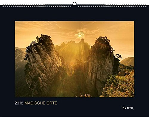 Magische Orte 2018: Kalender 2018 (KUNTH Wandkalender Black Edition)