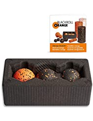 Blackroll Orange (Das Original) - BLOCK mit blackBALL-orange 8 cm & TwinBALL-orange 8 cm inkl. Übungsbooklet