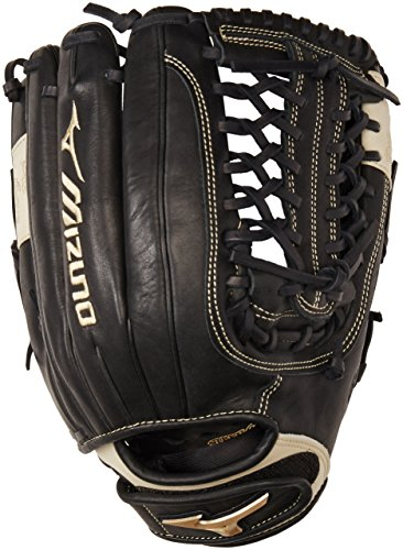 Mizuno GGE70FP Global Elite Left Handed Throw Fastpitch Fielders Mitt, Black, 13.00-Inch -