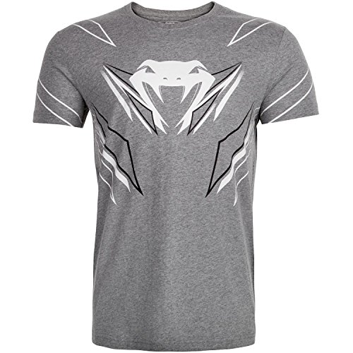 Venum Herren Shockwave 4.0 T-Shirt, Grau, S (Fitted Kampf T-shirt)
