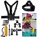 XCSOURCE® Bundle Accessories Set Kit 10 in 1 Handlebar or Seatpost Mount + Chest Strap + Head Strap + Yellow Hand Grip Floating Mount + Strap + 2 x Joint + 3 x Screws For Gopro Hero 1 2 3 3+ OS59