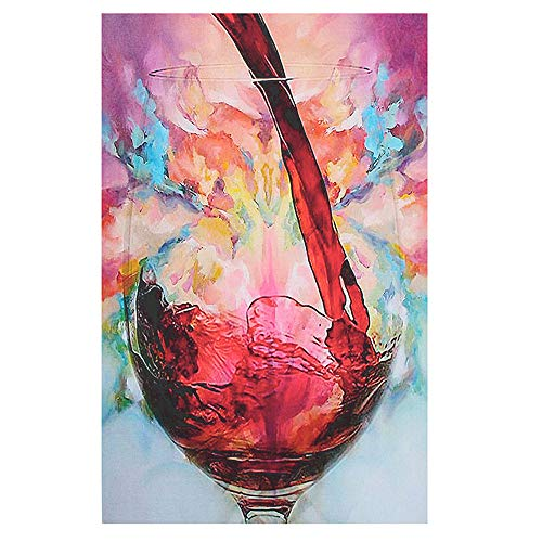 baodanla Rahmenloses einzelnes Weinglas Moderne Sprühfarbe 40X80CM