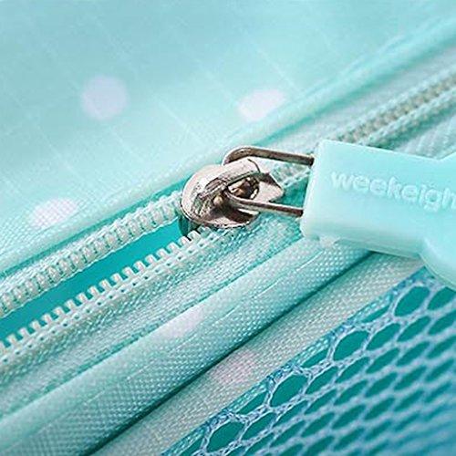 Miaomiaogo Reise-kosmetische Toilettenbeutel-Kasten-bewegliche Aufbewahrungsbeutel-hängende Tasche Marine