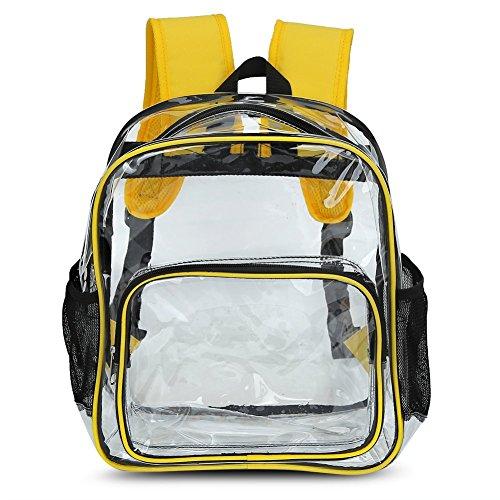 Clear backpack – Zicac Sac à Dos Transparent pour Filles Enfants Capacité13.8 L