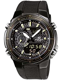 CASIO EFA-131PB-1AVEF - Reloj de caballero de cuarzo, correa de resina color negro