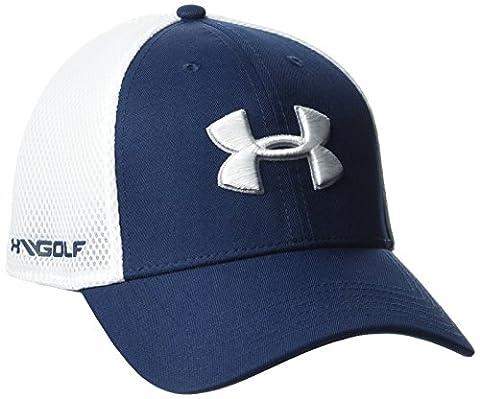 Under Armour Casquette de golf pour homme, Tissu extensible en maille 2.0 M/L Academy