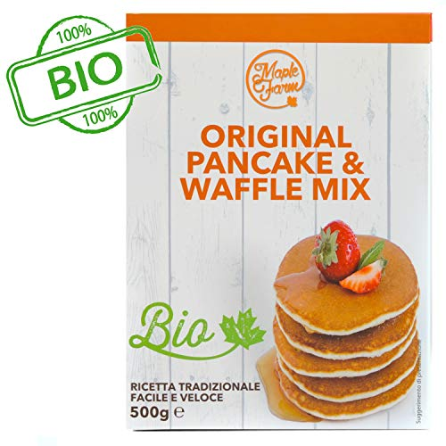 Maplefarm - preparato per pancake biologico - astuccio 500g - original pancake mix bio