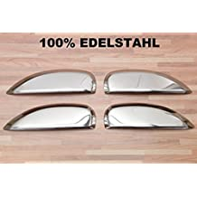 Cubiertas cromadas para manijas de puertas, de acero inoxidable, para coches Dacia Logan,
