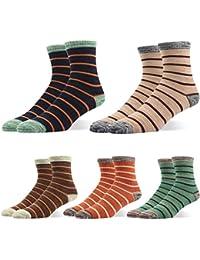 RioRiva Calcetines para hombre con estampado de rombos mezcla de materiales Pack de 2 pares de calcetines