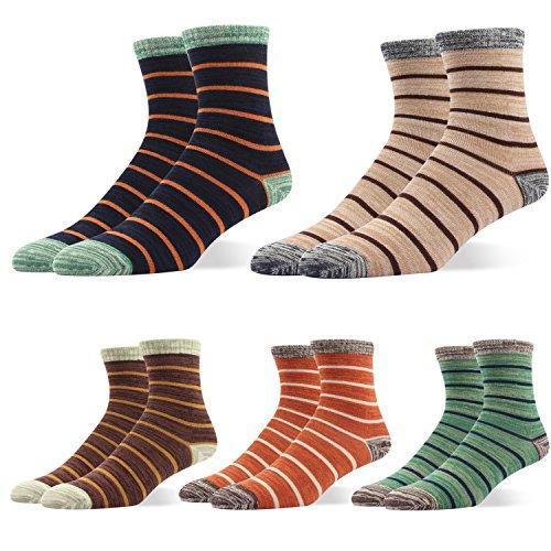 RioRiva Herren Business Socken Berufssocken Arbeitssocken Anzugsocken Gestreifte Socken Für Männer (BSK04 5Paar )