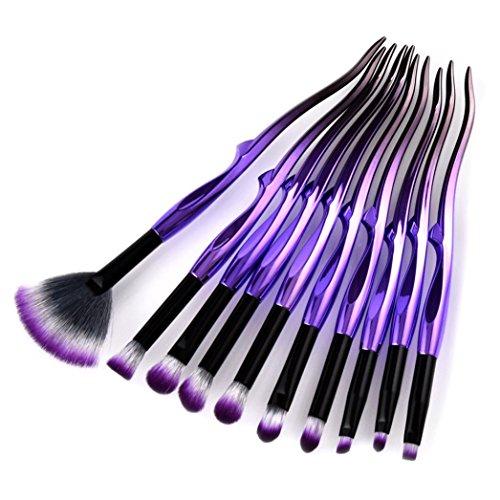 ESAILQ Kit de Pinceaux Maquillage 10pcs/set Yaksha- Brush Cosmétique Beauté & Make-up Make Up Brush Pinceau cosmétique de qualité Professionnel (A)