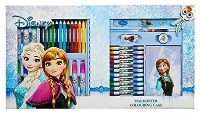 Disney Frozen, Maletin y Set de Dibujo, Colorea y Dibuja 42 piezas por Undercover Gmbh