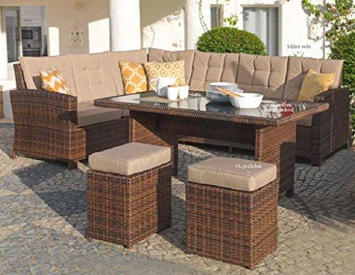braun-rattan-polyrattan- Gartenmöbel-Set online kaufen | Möbel ...