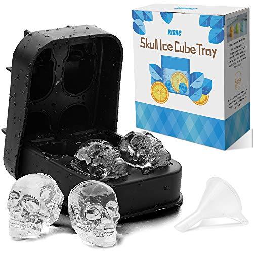 rfelform Totenkopf KIDAC Silikon Ice Cube Form Maker Candy Schokoladen Form Silikon BPA frei - Spülmaschinenfest ()