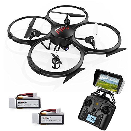 Preisvergleich Produktbild UDI U818A Verbesserte WIFI FPV Drohne mit 2MP HD Kamera APP Steuern RC Quadrocopter Kopflosmodus Drone mit 2 Batterien und 4GB TF Karte