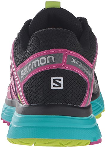 Salomon Womens X-Mission 3 CS W Backpacking Boot Black/Teal Blue F/Deep Dahlia