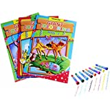 COI combo colouring books, roller stamp marker, magic colour pencil, grip pencils and sketch pens with Free Roller Stamp Marker,Magic Colour Pencil Sketch Pens (3 Giant)