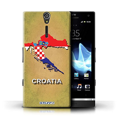 Kobalt® Imprimé Etui / Coque pour Sony Xperia S/LT26i / grande-Bretagne conception / Série Drapeau Pays Croatie/Croate