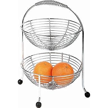Esylife corbeille deux tages pour pain ou fruits cuisine maison - Corbeille a fruits 3 etages ...
