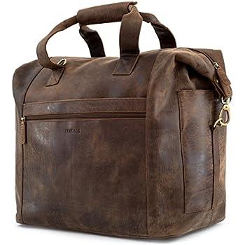 LEABAGS Santa Cruz sac de voyage rétro-vintage en véritable cuir de buffle - Marron GsMrKyYm9y