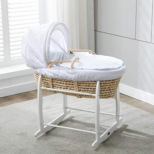 Mcc® Moisés cesta para Bebé recién nacido cesta en Palma natural con...