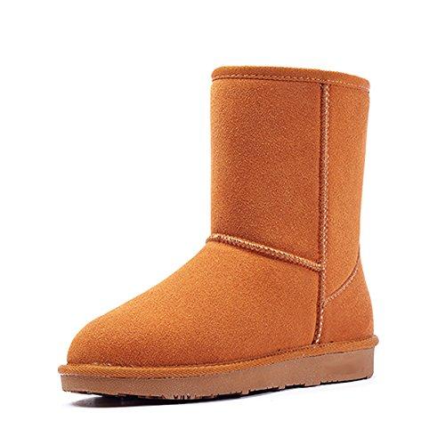 Bottes de neige chaudes classiques dans le tube chaud anti-dérapant chaussures coton