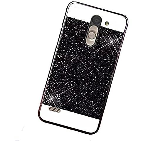 TKSHOP Case per LG D331 D335 D337 Custodia Cover plastica Hard dura PC conchiglia Bling Bling lusso Protezione smartphone antiurto Anti-Scratch - Nero