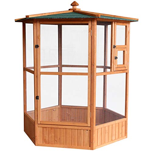 Easipet Large Wooden Aviary Bird House