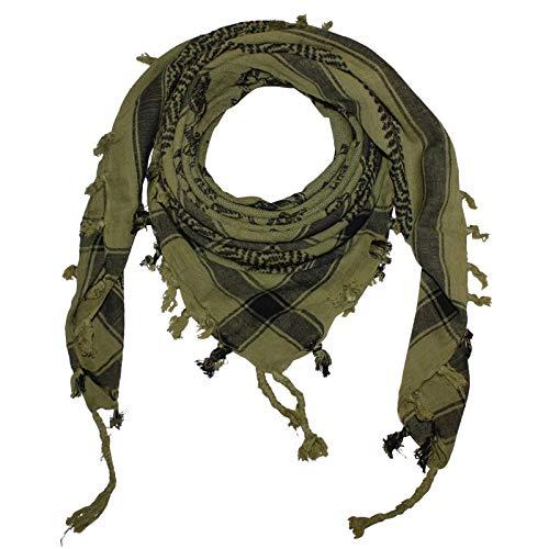 Superfreak Palituch - Totenköpfe mit Knochen groß grün-olivgrün - schwarz - 100x100 cm - Pali Palästinenser Arafat Tuch - 100{77a41921e1a742da7aa88de33fc5fe6e02f90097deecf993c956ec8c5e61c5f9} Baumwolle