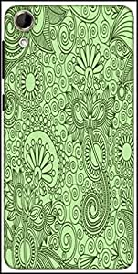 Snoogg Fabric Pattern Light Green Designer Protective Back Case Cover For HTC Desire 728