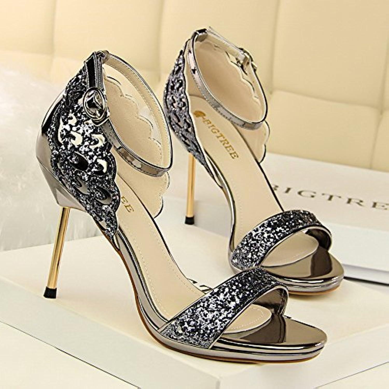 LGK&FA Banquete Los Zapatos De Tacón Alto Zapatos De Mujer De Tacón Alto Zapatos De Boda De Verano Mesa Impermeable...