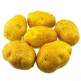 Gresorth 6pcs Artificiel Lifelike Pommes de terre Décor Faux Légume Maison Fête Festival Décoration