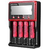 Chargeur de Batterie ICOCO Chargeur de Piles avec Écran LCD Numérique HXY-H4 Plug EU Batteries de Protection Avancée pour 26650 18650 18490 17335 16340 10440 (1)