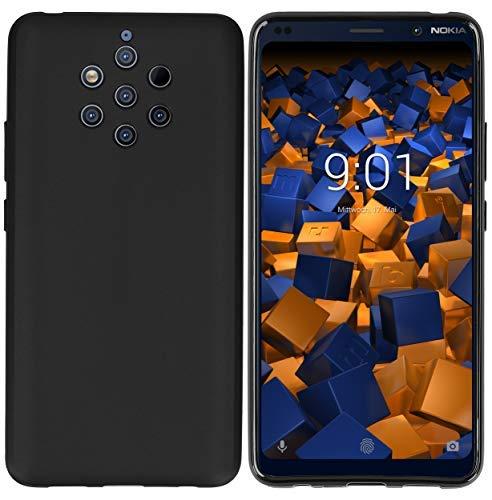 mumbi Schutzhülle kompatibel mit Nokia 9 PureView Hülle, Handyhülle passgenau, schwarz