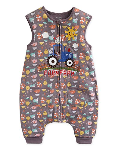 Vaenait Baby 80-110 Kleinkinder Jungen 100% Baumwolle Schlafs?cke Decke Funny Farmfarm Sleep S