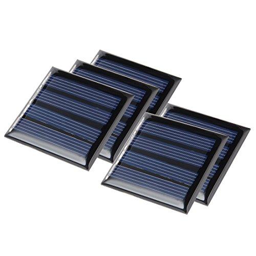 sourcingmap® 5Stk 4V 50mA Poly Mini Solar Cell Paneel Modul DIY für Phone Spielzeug Ladegerät