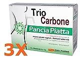 3X TRIO CARBONE PANCIA PIATTA - Integratore di Estratti Vegetali e...