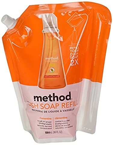 NIL Method Clementine Washing Up Liquid Refill 1064 ml