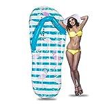YOUYONGSR Aufblasbare gehen Flip-Flop riesiger Pool Float aufblasbare Matratze Schwimmen Ring Kreis Strand Meer Wasser Party Spielzeug