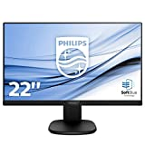 Philips 223S7EHMB/00 54 cm (21,5 Zoll) Monitor (VGA, HDMI, 5ms Reaktionszeit, 1920 x 1080, 60 Hz, Pivot) schwarz