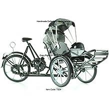 Xich-Lo Bicicleta de 3 ruedas, modelo de metal, hecho a mano,