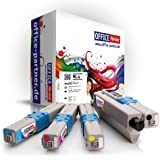 OKI compatible C301 / C321 multiPack of 4 high quality Toner Cartridges (BK/C/M/Y) for OKI C301DN / C321DN / MC332DN / MC342DN / MC342DNW